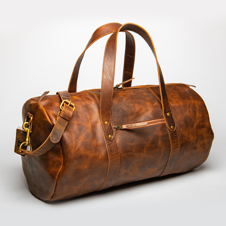 "Leather Gym Bag 20"" // Brown"