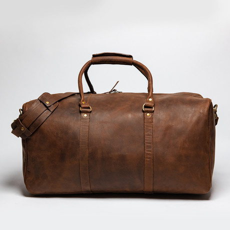 "Leather Travel Bag 21"" // Distressed Brown"