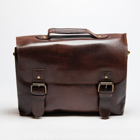 Daily Leather Messenger Bag // Antique Brown