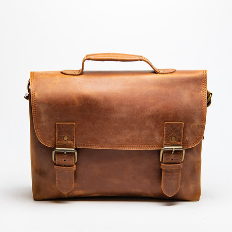 Daily Leather Messenger Bag // Distressed Brown
