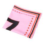 "Givenchy // Silk ""17"" Scarf // Pink + Black"