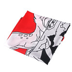 Split Abstract Bambi Scarf // Red