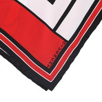 Givenchy // Split Abstract Bambi Scarf // Red