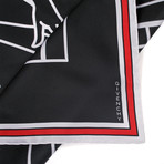 Split Abstract Bambi Scarf // Black