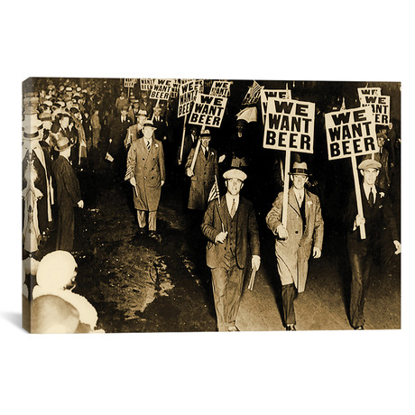 """Protest Against Prohibition, New Jersey. 1931 // American Photographer (26""""W x 18""""H x 0.75""""D)"""