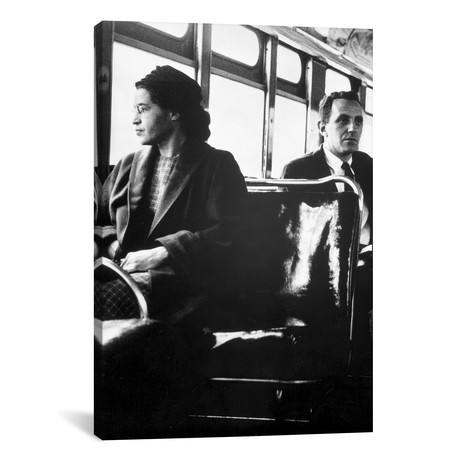 "Rosa Parks Sitting On A Public Vehicle // Movie Star News (18""W x 26""H x 0.75""D)"