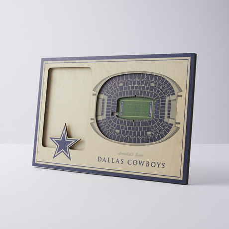 Dallas Cowboys 3D Picture Frame