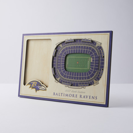 Baltimore Ravens 3D Picture Frame
