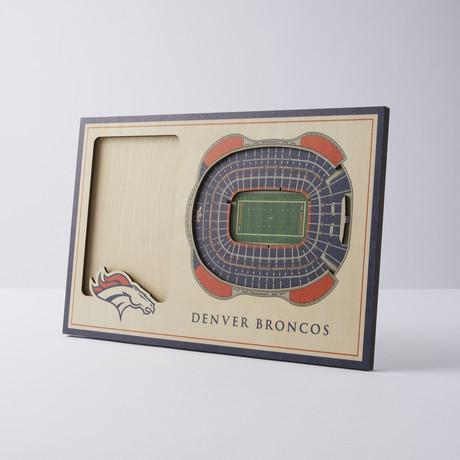 Denver Broncos 3D Picture Frame