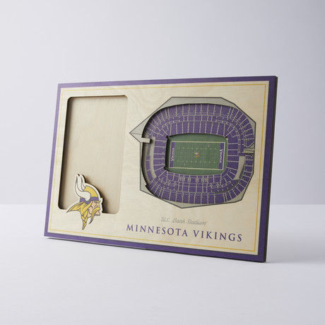 Minnesota Vikings 3D Picture Frame