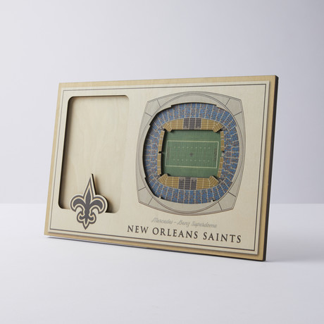New Orleans Saints 3D Picture Frame