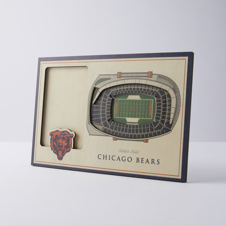 Chicago Bears 3D Picture Frame