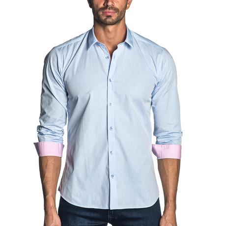 Woven Long Sleeve Shirt // Light Blue Gingham (S)