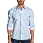 Woven Long Sleeve Shirt // Light Blue Gingham (3XL)