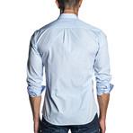 Woven Long Sleeve Shirt // Light Blue Gingham (XL)