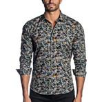 Woven Long Sleeve Shirt // Camo Parrots (S)