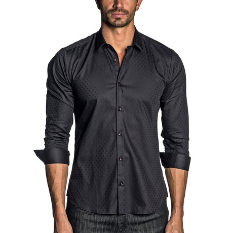 Woven Long Sleeve Shirt // Black (S)