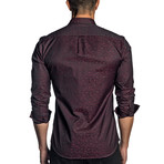 Woven Long Sleeve Shirt // Burgundy (M)