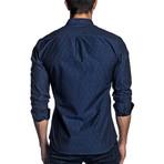 Woven Long Sleeve Shirt // Navy Print (S)