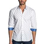 Trevor Long Sleeve Shirt // White Paisley (XS)