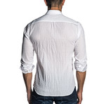Woven Long Sleeve Shirt // Textured White (S)