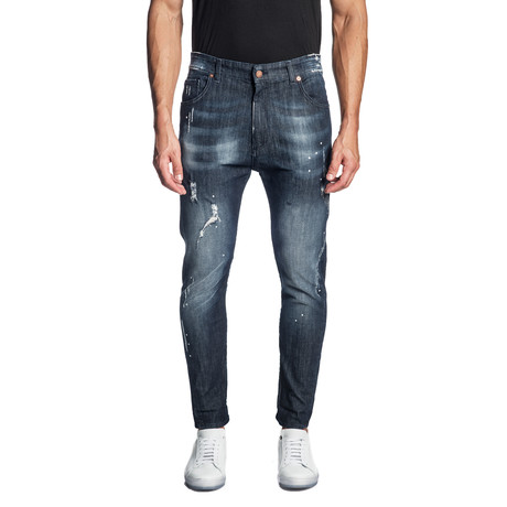 Skinny Stretch Jeans // Navy (30WX32L)