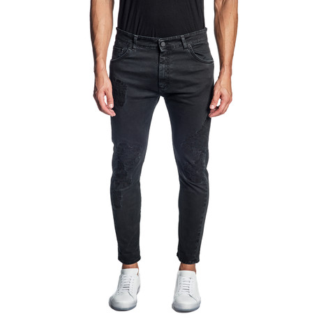 Skinny Stretch Jeans // Dark Blue (30WX32L)