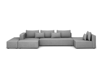 Photo of Modern HD Sun-Resistant Outdoor Furniture 5 Piece LSF Set (Lindsey Charcoal) by Touch Of Modern