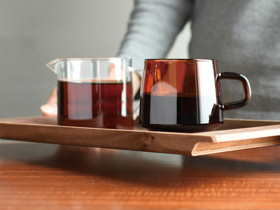 Photo of KINTO Coffee & Tea Sets SEPIA Nonslip Tray // Walnut by Touch Of Modern