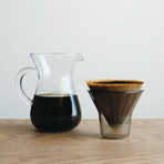 Coffee Carafe Set // Plastic Brewer