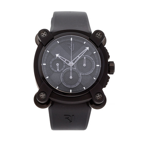 Romain Jerome Moon Dust-DNA Moon Invader Black Metal Chronograph Automatic // RJ.M.CH.IN.001.01 // New