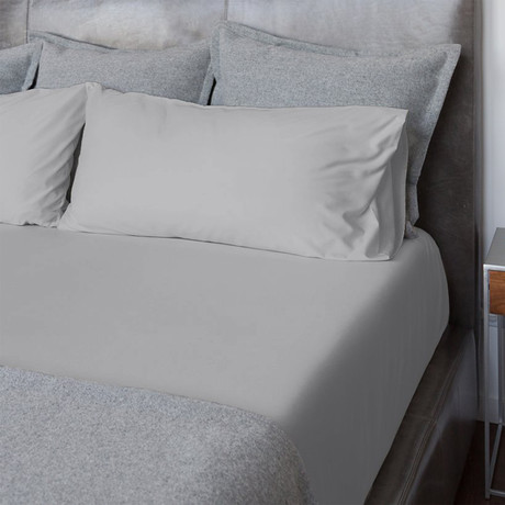 Percale Bed Sheets // Cloud Grey (Twin)