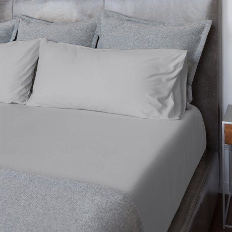 Sateen Bed Sheets // Cloud Grey (Twin)
