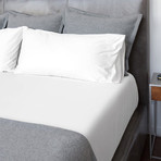Percale Bed Sheets // White (Twin)