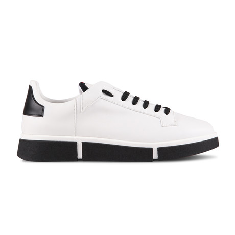 Maverick Sneaker // White + Black (Euro: 40)