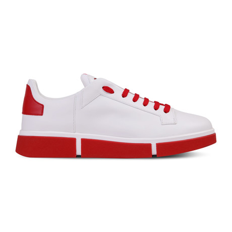Ali Sneaker // White + Red (Euro: 40)