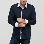 Nathaniel Button-Up Shirt // Dark Blue (X-Large)