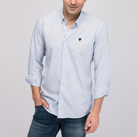 Nathaniel Button-Up Shirt // Blue (Small)