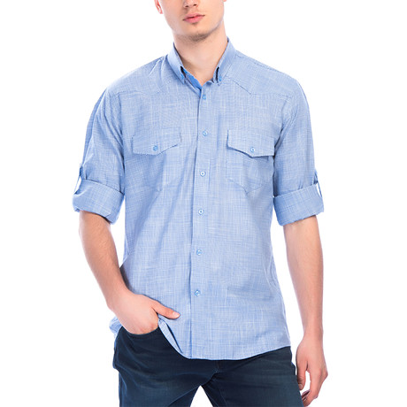 G647 Button-Up Shirt // Indigo (L)