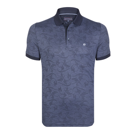 Quincy SS Polo Shirt // Navy Blue (XS)
