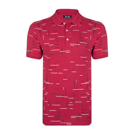 Palmer SS Polo Shirt // Bordeaux (XS)