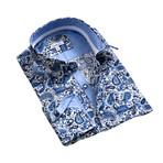 Celino // Reversible Cuff Button-Down Shirt // Cream + Blue (S)