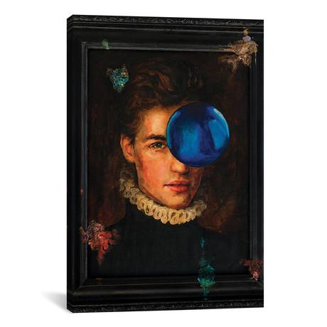 "Gothic Portrait With A Blue Ball // Oleksandr Balbyshev (26""W x 40""H x 1.5""D)"
