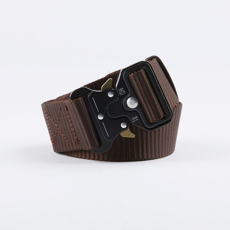 Bunker Tactical Quick Release Belt // Coffee