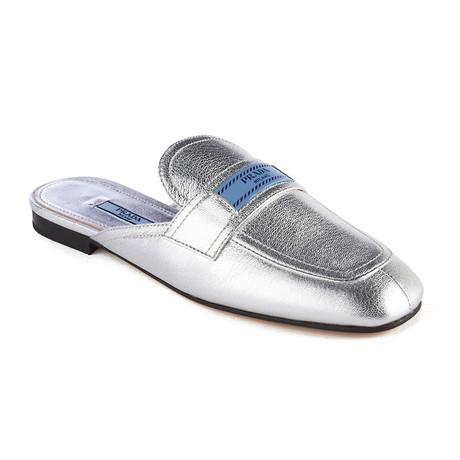 Prada // Women's Leather Mule Loafer // Silver (US: 5)