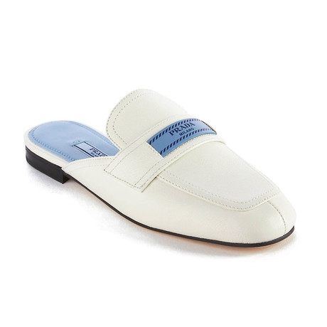 Prada // Women's Leather Mule Loafer // White (US: 5)