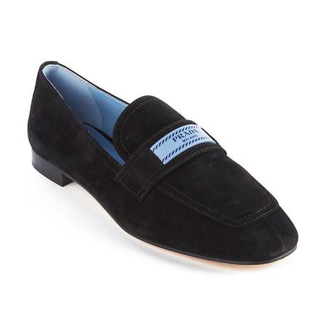 Prada // Women's Suede Loafer // Black (US: 5)
