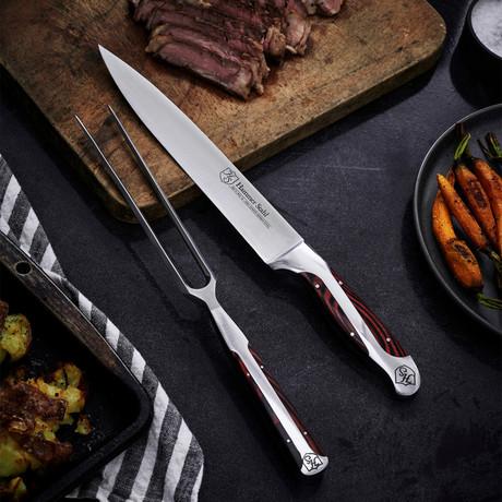 Carving Knife + Fork Set