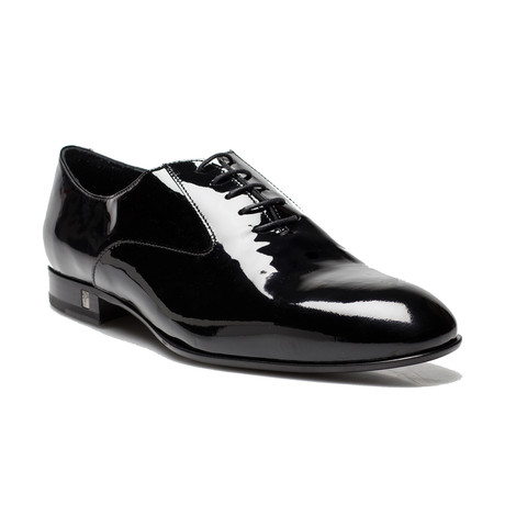Patent Leather Oxford Lace-Up Dress Shoes // Black (US: 8)