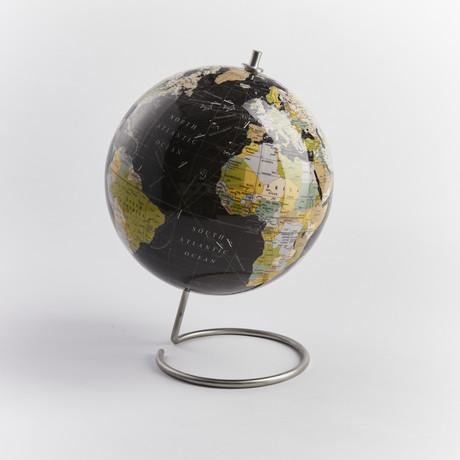 Globe // Black (With Standard Pins)